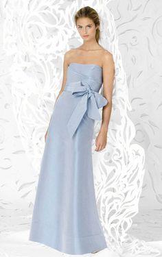 A-line Floor-length Strapless Bridesmaid Dress