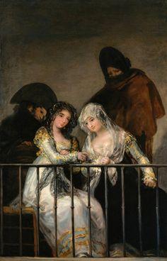 """Art from Spain - Francisco José de Goya y Lucientes (1746 –1828). """"Majas al…"""