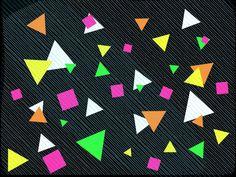 90's geometric-fluo inspiration  #art #geometric #fluo #stripes #triangle
