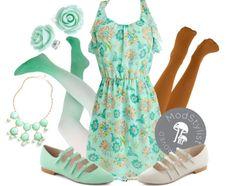 """Sea Breezy Dress"" by modcloth ❤ liked on Polyvore"