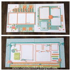 Two 2pg layouts with Blossom -