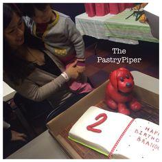 Clifford's Puppy Days 2nd Birthday Cake  #clifford #puppydays #happybirthday #cake #yum #delicious #oreo #chocolate #imbc #normanbridwell #art #pastryart #pastryartist #pastrypiper #cotd #igcake #instagramcakes #cakesofinstagram #milwaukee #wisconsin #414 #red #sweet #love #bettybrinn #bettybrinnchildrensmuseum