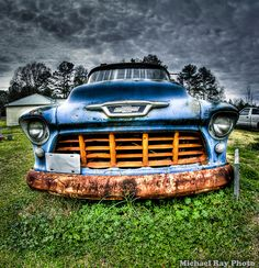 Old 55 Chevy truck HDR style Learned to drive in a '55
