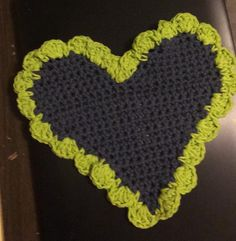 Neon Green, Doilies, Coasters, Crochet Earrings, Beanie, Heart, Handmade, Hand Made, Craft
