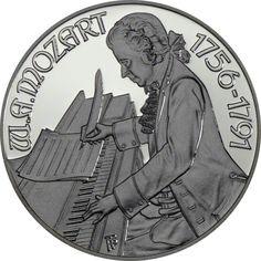 100 Schilling Silber Mozart - Wien PP