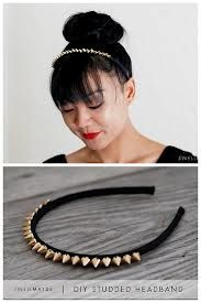 Glue studs on a headband