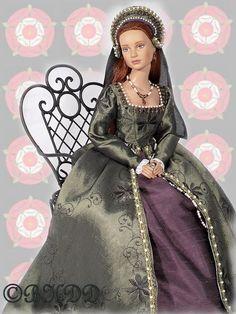 Black Hills Doll Designs.  Tudor Gown