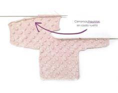 Jersey de Punto POPCORN para Bebé - [ Tutorial y patrón ]