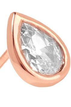 Anita Ko - 18-karat Rose Gold Diamond Earring - one size