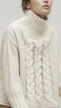 Knitwear Fashion, Turtlenecks, Cardigans For Women, Minimalist Fashion, Pull, Casual Outfits, Beige, Clothes, Knits
