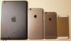 Backing of iPad Air, iPhone 6 Plus, iPhone 6, and iPhone 5s