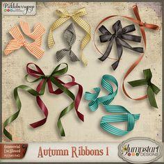CU ~ Autumn Ribbons 1 By Jumpstart Designs