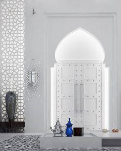 Porte entrée avec un arc marocain