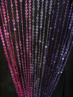 Purple & Pink Beaded Curtain -- Diamond Cut
