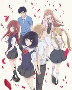 Kuzu no Honkai (Scum's Wish) 17-year-old Awaya Mugi and Yasuraoka Hanabi appear to be the ideal couple. They are both pretty popular, and they seem to suit each other well. However, outsiders don't know of the secret they share. Both Mugi and Hanabi have hopeless crushes on someone else, and they are only dating each other to soothe their loneliness.