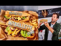 OMG: MITRAILLETTE, a legbrutálabb belga szendvics - YouTube Naan, Snack Recipes, Chips, Mint, Make It Yourself, Food, Youtube, Beverages, Street