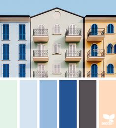 Design Seeds + Color Atlas by Archroma® Colour Pallette, Color Combos, Color Schemes, Blue Green Nursery, Soothing Paint Colors, Color Palette Challenge, Color Collage, Color Balance, Diy House Projects