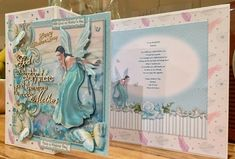 Fairy Wishes by Suzanne Kavanagh: Mother's Day Card. Pictures taken at different angles. I printed onto glossy printable decoupage paper. I…