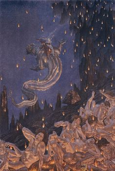 By Amos NattiniIllustration for Divine Comedy, 1923.