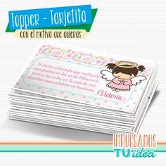 Comprá online Bautismo Nena - Tarjetita para imprimir con angelita por $28,50. Hacé tu pedido y pagalo online.