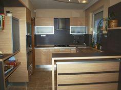 Modern konyhabútor tölgy színben