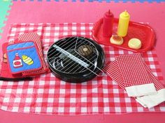 Grilling with preschoolers:pretend play