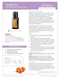 Tangerine dōTERRA Essential Oil