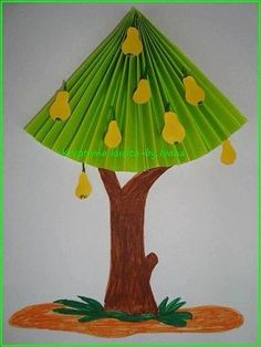 Crafts,Actvities and Worksheets for Preschool,Toddler and Kindergarten. Diy Crafts To Do, Tree Crafts, Easy Crafts For Kids, Toddler Crafts, Flower Crafts, Paper Crafts, Creative Activities For Kids, Art Activities, Origami