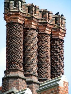 chimneys from Henry 8th's Hampton Court Palace