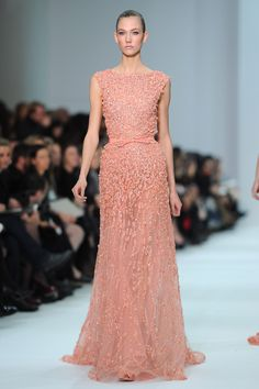 We'd love to see this petal-pink Elie Saab gown on Zoe Saldana — the color would pop perfectly off of her skin tone.