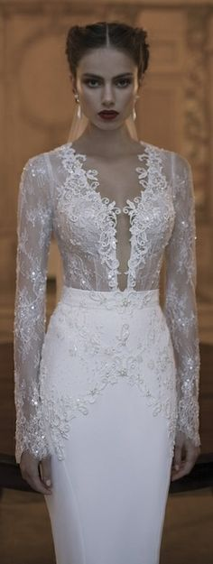 Her makeup is terrible but the dress is beautiful. Berta Wedding Dress Collection Winter 2014
