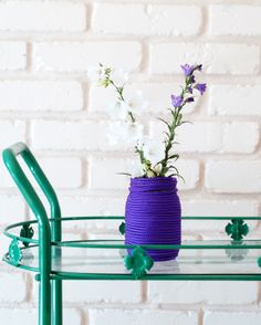 Make simple yet festive vases using nylon cord to display the bountiful blooms of the season. Click through for the full DIY by @A Subtle Revelry on the @eHow Home blog.