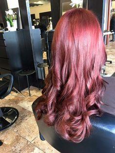 Carmells AVEDA red at Bella Dolche Salon and Spa EVERETT WA