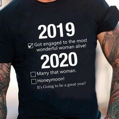 Fiance Engagement Gift 2019 Got Engaged To Most Wonderful Woman - Standard T-shirt Engagement Presents, Gifts For Fiance, Presents For Men, Getting Engaged, Woman, Mens Tops, T Shirt, Guy Presents, Supreme T Shirt