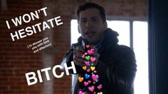 Pinterest // @multiveins Meme Pictures, Reaction Pictures, Brooklyn 99 Actors, Watch Brooklyn Nine Nine, Jake And Amy, Heart Meme, Jake Peralta, Cop Show, Andy Samberg
