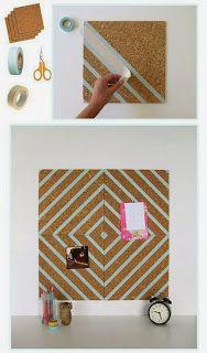 Beauty4Us: DIY: Como fazer quadro de recados em cortiça gastando pouco + Meu cantinho recém decorado =)