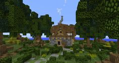 #minecraft #buildings #simple #fantasy #lollyherz #village #steampunk #housebuild #build #house #trees