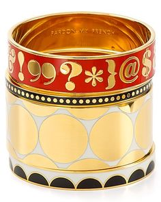 kate spade new york All the Trimmings Idiom Bangle | Bloomingdale's