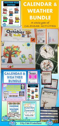 CALENDAR and WEATHER BUNDLE!! Great Value! Calendar Activities for the WHOLE YEAR!!  *Monthly Calendars with tree for students to decorate for each season *Weather Bear Station *Calendar Journals-great morning activity to keep them writing every day *AND MORE!! $