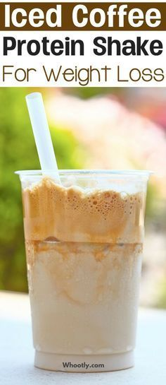 Iced+Coffee+Protein+Shake+Recipe+for+weight+loss:+A+healthy+low+calorie,+low+carb,+high+protein,+and+filling+breakfast+or+lunch+smoothie.+This+recipe+is+gluten-free,+Vegan+and+keto-friendly.