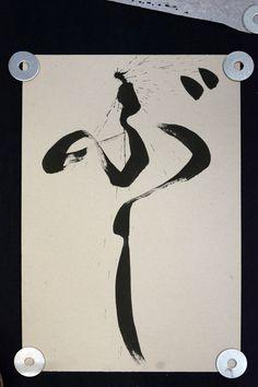 BU-SHI | Expressive calligraphy | Big brush calligraphy - 2239 Calligraphy, Big, Lettering, Calligraphy Art, Hand Drawn Typography, Letter Writing