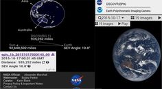 NASA has recently launched a website which will show the images of earth by using the DSCOVR(Deep Space Climate Observatory) satellite with the EPIC camera.