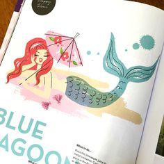 Blue lagoon illustration for Hooray magazine.