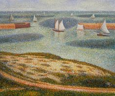 Port-en-Bessin, Entrance to the Outer Harbor by George Seurat