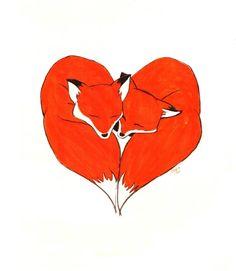 fox love illustration