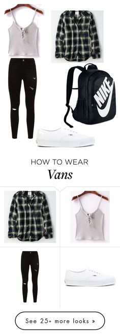 """""""Untitled #1"""" on Polyvore featuring WithChic, Vans, American Eagle Outfitters and NIKE"""