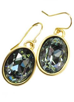 WARNER OVAL DROPS, 18KT AND INDIAN SAPPHIRE  $93.00