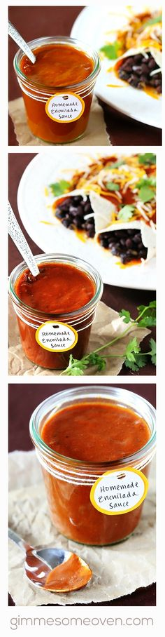 Homemade Red Enchilada Sauce -- our readers agree that this one is a total winner! | gimmesomeoven.com