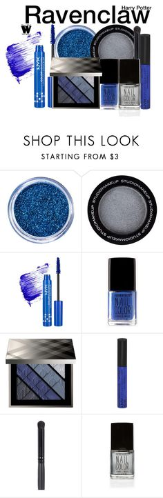 """""""Harry Potter - Ravenclaw Cosmetics"""" by wearwhatyouwatch ❤ liked on Polyvore featuring beauty, NYX, Forever 21, Burberry, makeup, wearwhatyouwatch and film"""