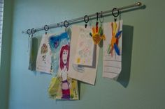 How to display your child's artwork on a cafe rod | Magazines.com #DIY